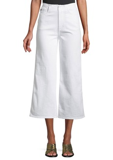 AG Adriano Goldschmied Etta High-Waist Cropped Wide-Leg Jeans