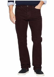 AG Adriano Goldschmied Everett Slim Straight Leg Corduroy in Sulfur Rich Carmine