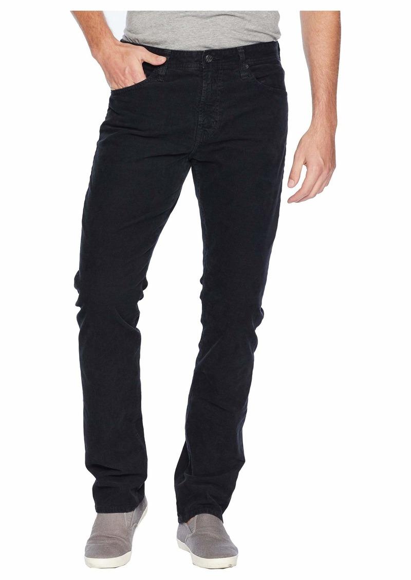 AG Adriano Goldschmied Everett Slim Straight Leg Jeans in Sulfur Black Ash