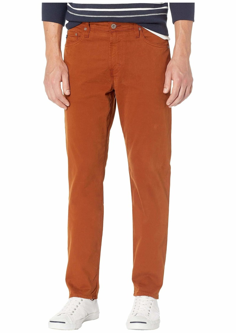 AG Adriano Goldschmied Everett Slim Straight Leg Sud Pants in Cognac