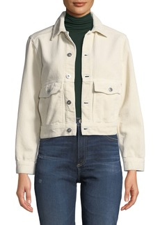 AG Adriano Goldschmied Evonne Button-Front Corduroy Jacket