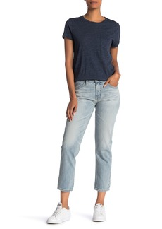 AG Adriano Goldschmied Ex-Boyfriend Distressed Slim Crop Jeans