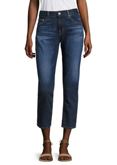 AG Adriano Goldschmied Ex-Boyfriend Slim Roll-Up Cropped Jeans