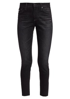AG Adriano Goldschmied Farah High-Rise Raw-Hem Ankle Skinny Jeans