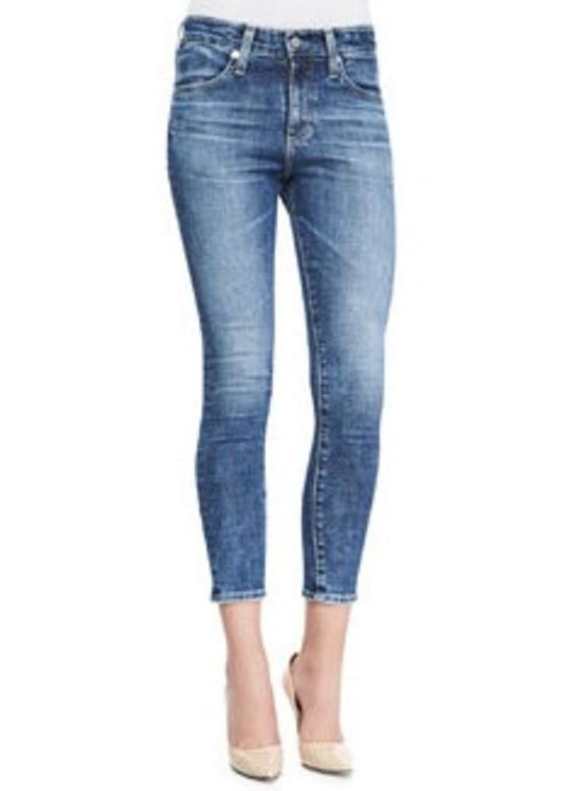 AG Adriano Goldschmied Farrah 12 Years Vintage High-Rise Cropped Skinny Jeans   Farrah 12 Years Vintage High-Rise Cropped Skinny Jeans