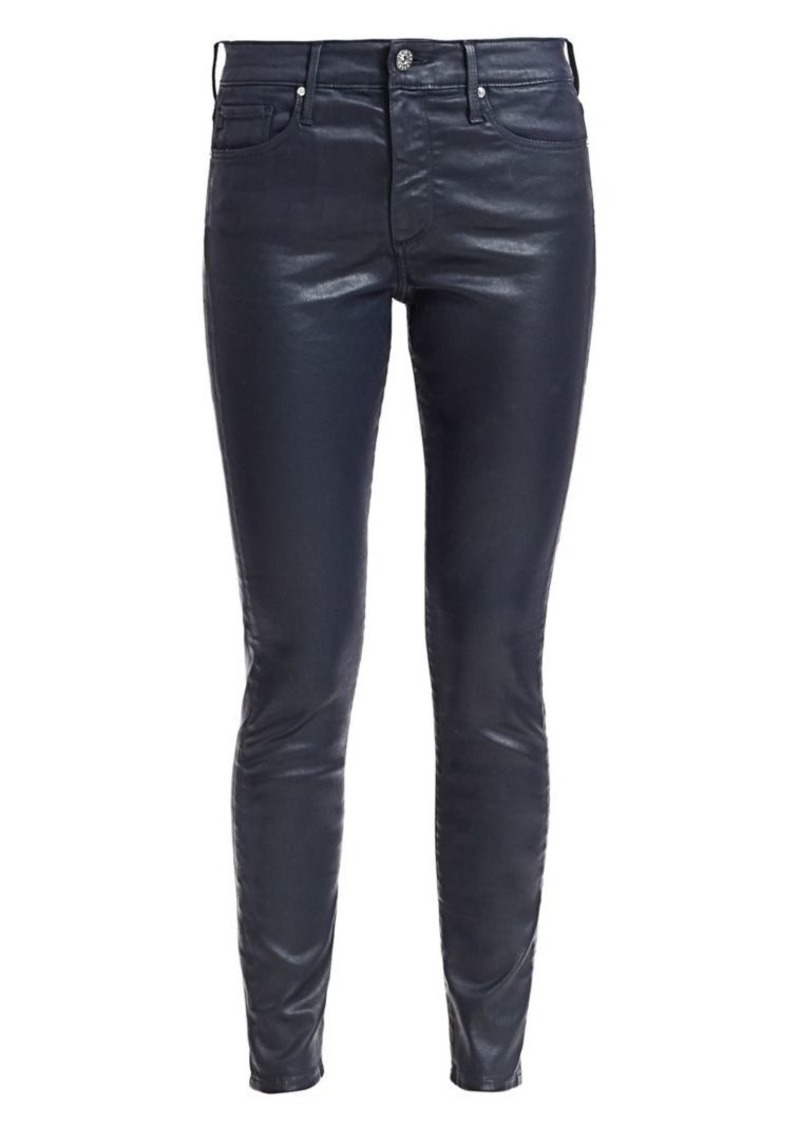 AG Adriano Goldschmied Farrah Ankle Leatherette Skinny Jeans