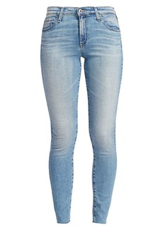 AG Adriano Goldschmied Farrah Mid-Rise Ankle Skinny Raw Hem Jeans