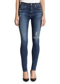 AG Adriano Goldschmied Farrah Distressed High-Rise Skinny Jeans