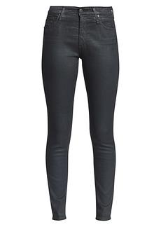 AG Adriano Goldschmied Farrah High-Rise Skinny Ankle Raw Hem Jeans