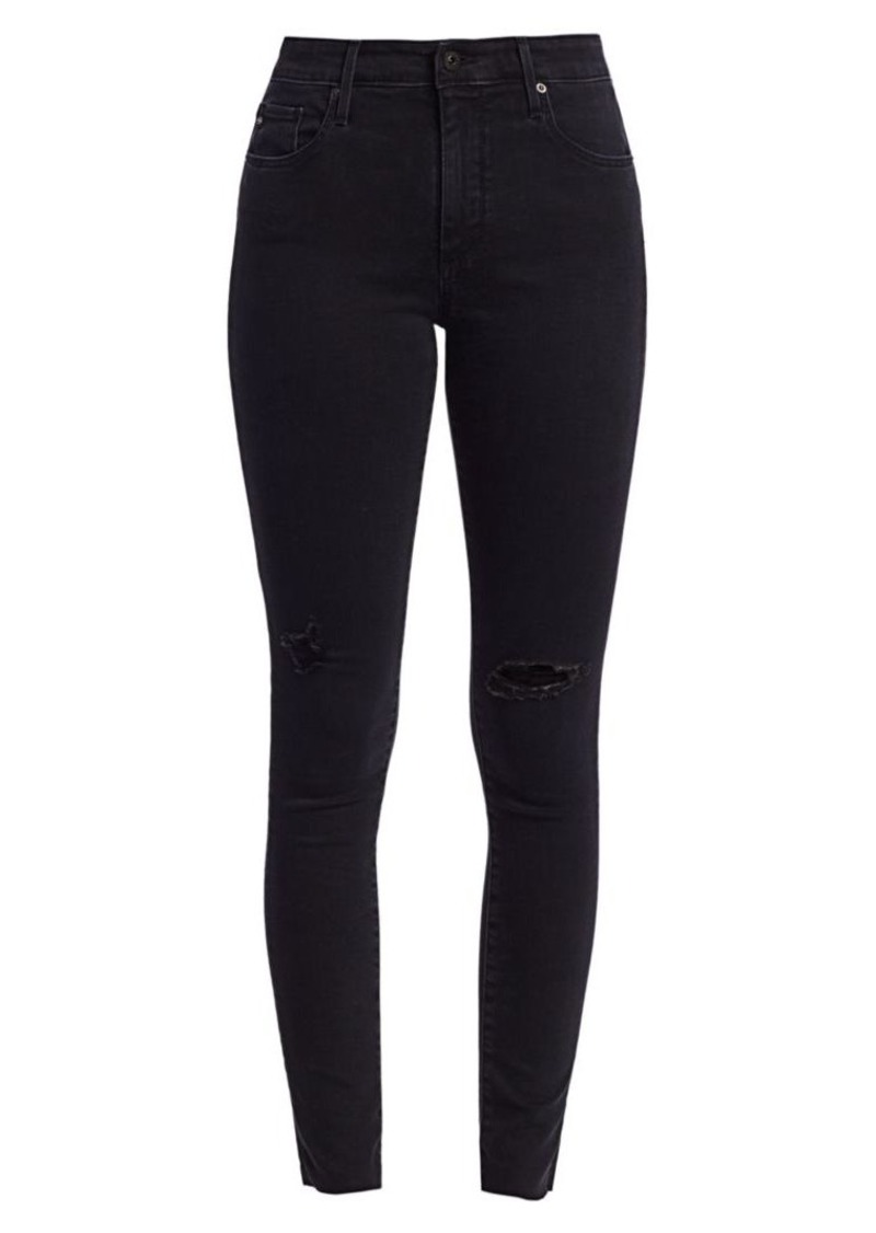AG Adriano Goldschmied Farrah High-Rise Skinny Distressed Jeans