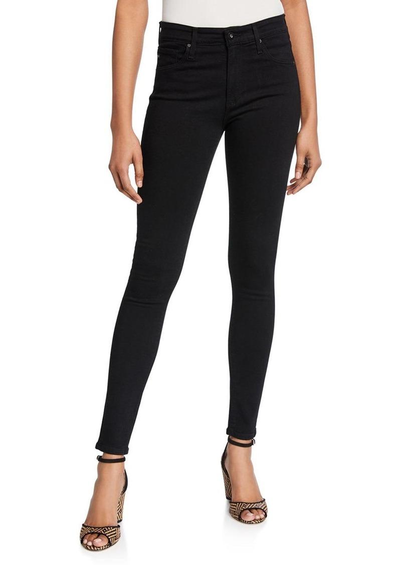 AG Adriano Goldschmied Farrah High-Waist Stretch-Denim Skinny Jeans