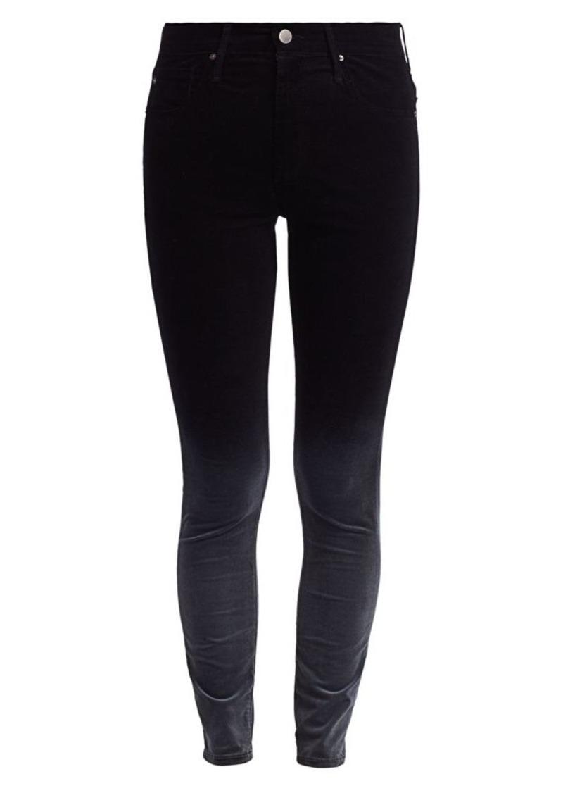 AG Adriano Goldschmied Farrah Ombre Velvet Skinny Ankle Jeans
