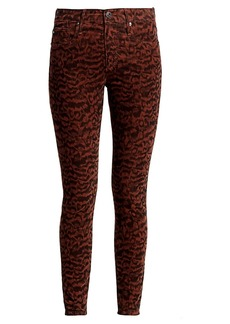 AG Adriano Goldschmied Farrah Print Corduroy Skinny Jeans
