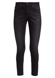 AG Adriano Goldschmied Farrah Ankle Mid-Rise Raw Hem Skinny Jeans