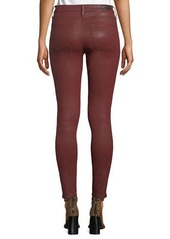 AG Adriano Goldschmied Farrah Sateen High-Rise Ankle Skinny Jeans