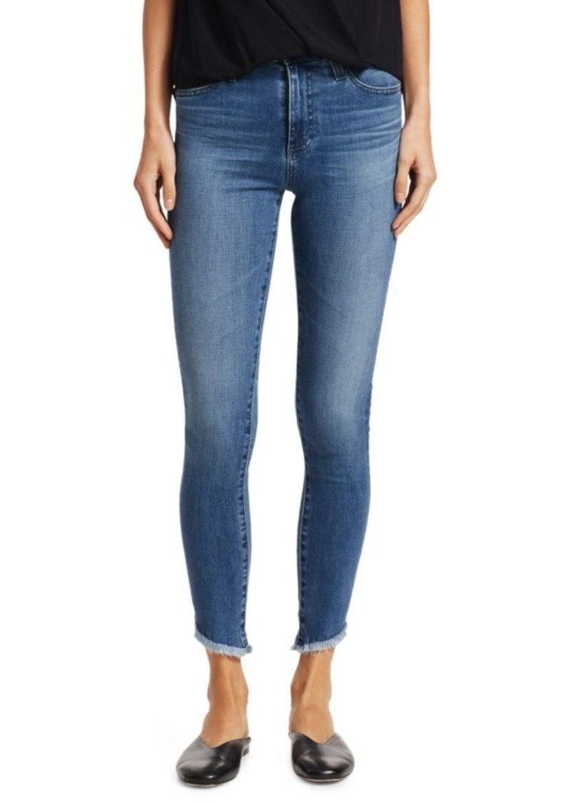 AG Adriano Goldschmied Farrah Skinny Ankle Frayed Jeans