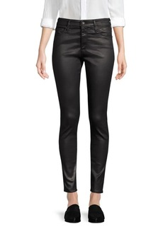 AG Adriano Goldschmied Farrah Skinny Ankle High-Rise Coated Jeans