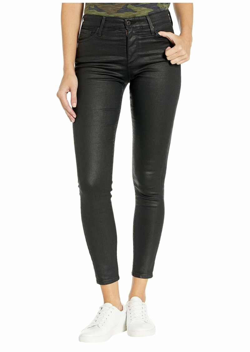 AG Adriano Goldschmied Farrah Skinny Ankle in Leatherette Light/Super Black