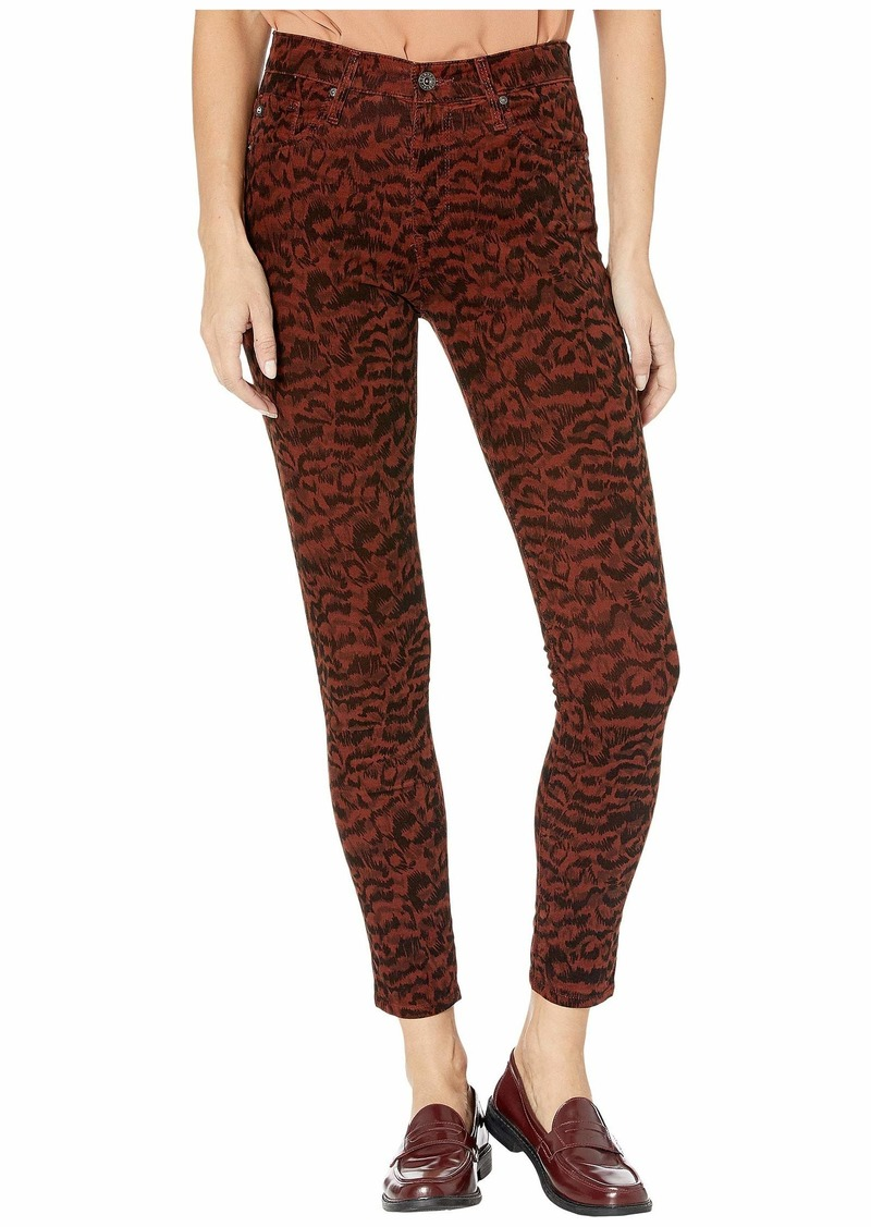 AG Adriano Goldschmied Farrah Skinny Ankle in Shadow A-Rich Crimson/Black