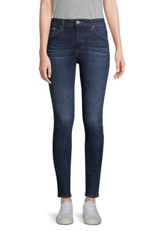 AG Adriano Goldschmied Farrah Mid-Rise Stretch Skinny Ankle-Length Jeans