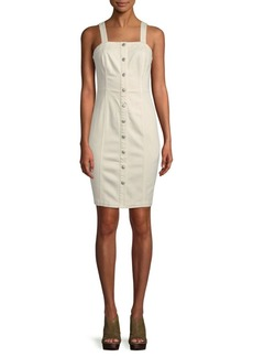 AG Adriano Goldschmied Fitted Button-Front Dress