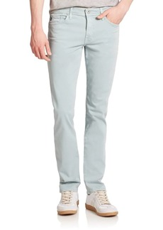 AG Adriano Goldschmied Graduate Tailored-Fit Sueded Cotton Jeans