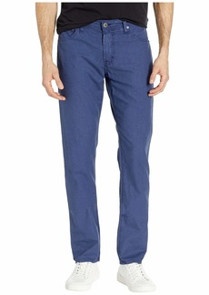 AG Adriano Goldschmied Graduate Tailored Leg Linen Pants in Sulfur Indigo Ink