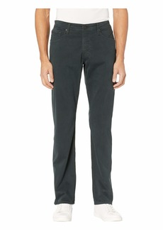 AG Adriano Goldschmied The Graduate Tailored Straight SUD Sueded Stretch Sateen in Dark Ivy