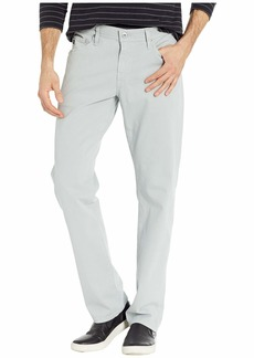 AG Adriano Goldschmied The Graduate Tailored Straight SUD Sueded Stretch Sateen in Misty Mirror