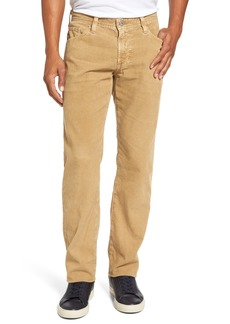 AG Adriano Goldschmied Graduate Tailored Straight Leg Corduroy Pants