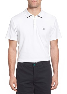 AG Adriano Goldschmied Green Label The Fade Short Sleeve Cotton Polo