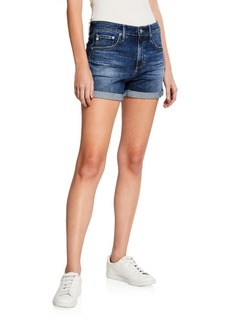 AG Adriano Goldschmied Hailey Ex-Boyfriend Distressed Denim Shorts
