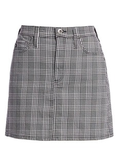 AG Adriano Goldschmied Harlo Plaid Mini Skirt