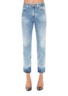 AG Adriano Goldschmied High-Waist Tapered Light-Wash Jeans