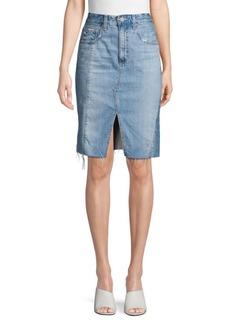 AG Adriano Goldschmied High-Waisted Denim Skirt