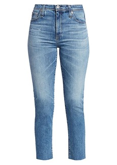 AG Adriano Goldschmied Isabelle High-Rise Crop Straight-Leg Jeans