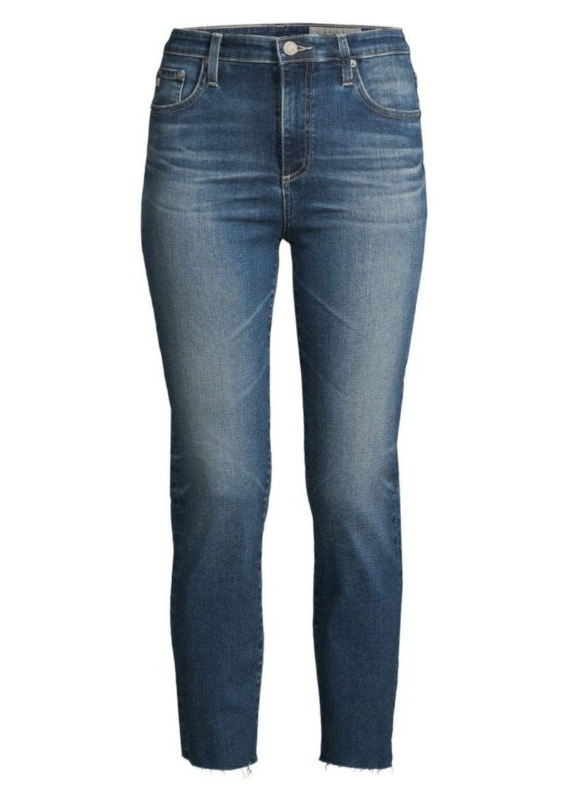 AG Adriano Goldschmied Isabelle High-Rise Straight-Leg Ankle Jeans
