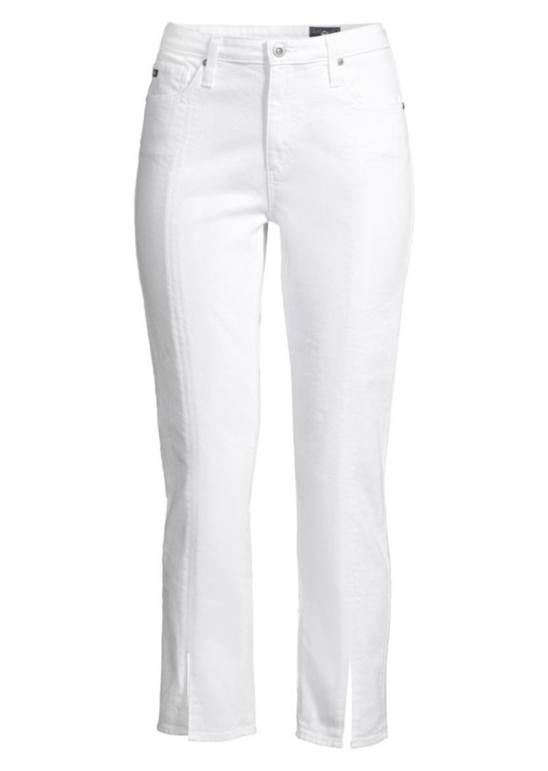 AG Adriano Goldschmied Isabelle High-Rise Straight Split Hem Crop Jeans