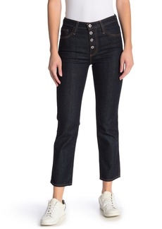 AG Adriano Goldschmied Isabelle High Waisted Button Straight Crop Jeans