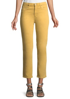 AG Adriano Goldschmied Isabelle Meteor Shower Straight-Leg Ankle Jeans