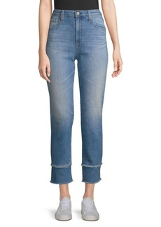 AG Adriano Goldschmied Isabelle Straight-Leg Crop Jeans