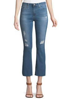 AG Adriano Goldschmied Jodi Cropped High-Rise Flare-Leg Jeans