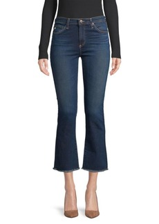 AG Adriano Goldschmied Jodi High-Rise Slim Crop Flare Jeans