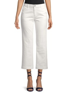 AG Adriano Goldschmied Layla High-Waist Flared Cropped Trousers