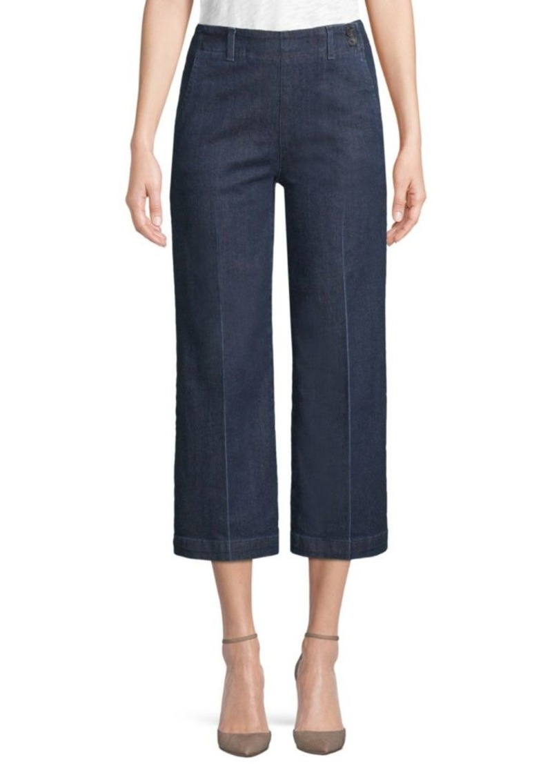AG Adriano Goldschmied Led Wide-Leg Cropped Jeans