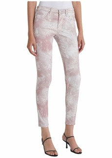 AG Adriano Goldschmied Leggings Ankle in Abstract Tie-Dye Rocky Mauve