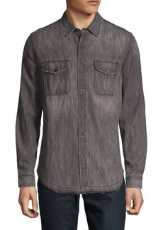 AG Adriano Goldschmied Long-Sleeve Button-Down Shirt