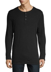 AG Adriano Goldschmied Long-Sleeve Cotton Henley