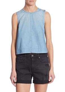 AG Adriano Goldschmied Lynn Chambray Shell Top