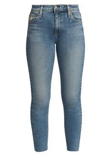 AG Adriano Goldschmied Mari Cropped Raw-Hem Skinny Jeans